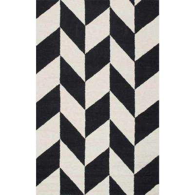 Black and white area rugs katte black and white 4 ft. x 6 ft. area rug TMJLAOX