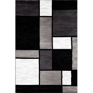 Black and white area rugs lorenzo gray/black area rug LYDEUHM