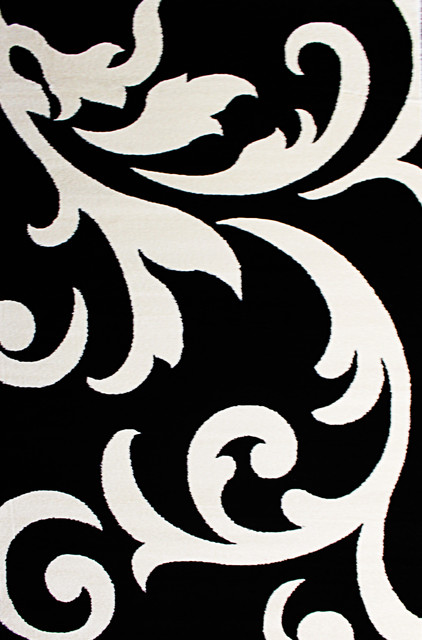 Black and white area rugs metro scroll rug, black and white, ... BHSWBOZ