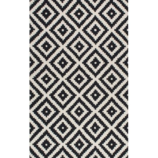 Black and white area rugs obadiah hand tufted black cream area rug OALTHBL