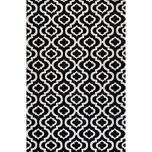 Black and white area rugs summit ok-17va-wdmw 25 new black white trellis lattice modern abstract many  size VLNFNKY