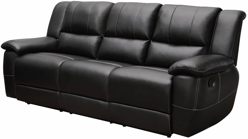black bonded leather reclining sofa stores chicago XFKQPLV