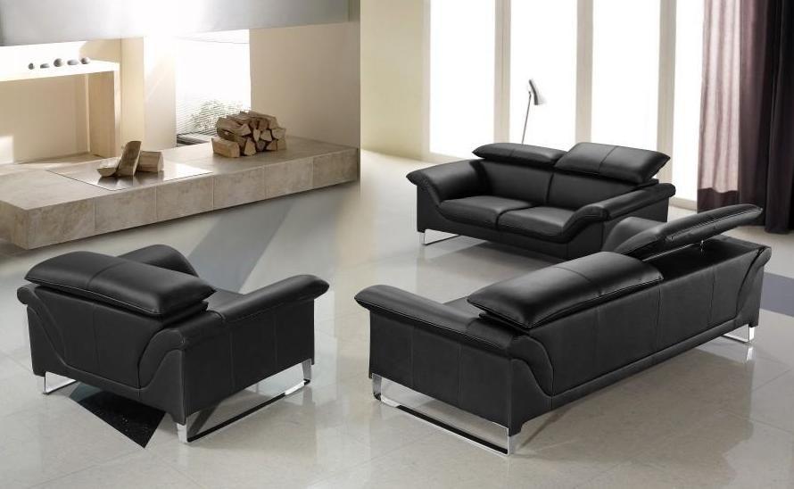 black leather sofas genuine and italian leather, modern designer sofas XZAKGWX