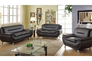 black leather sofas mina modern black leather sofa set ZTRZUHI
