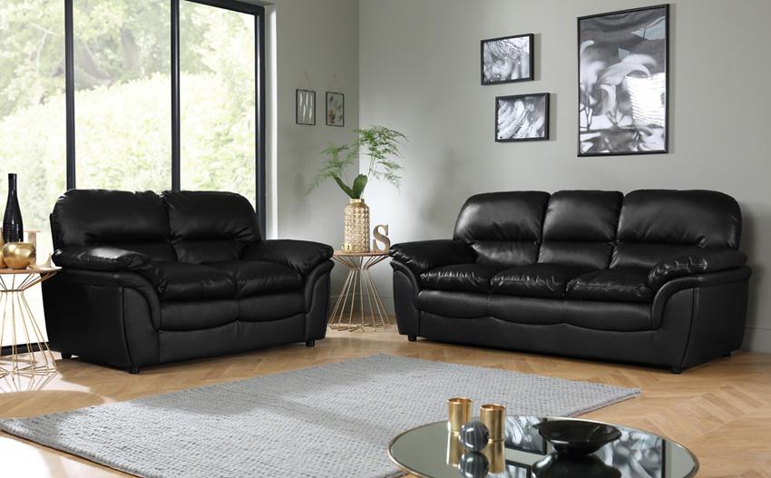 black leather sofas popular of black leather sofa set with fantastic black leather sofa ezclhob YPMJWXM