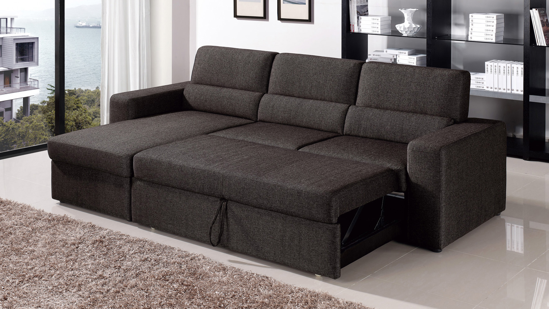 blackbrown clubber sleeper sectional sofa zuri furniture for sleeper sofa  set intended VBIGALC