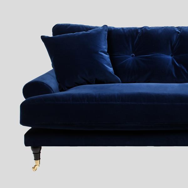 blanca deep blue velvet sofa UGMSBQC