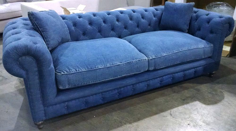 blue denim sofa and loveseat recycled jeans covers things reuse for awesome QHCHHVQ