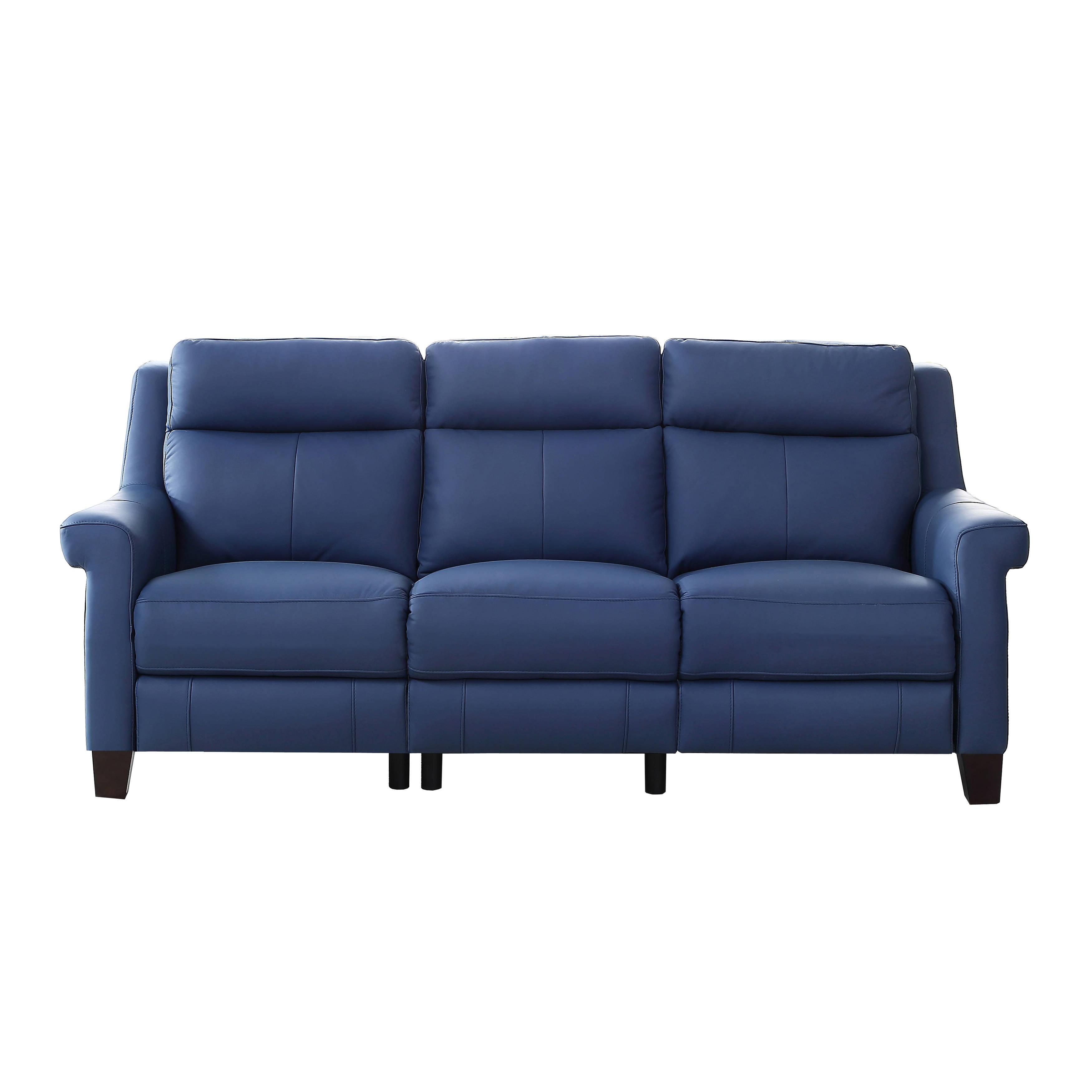 blue reclining sofa amax leather dolce blue power reclining sofa | the classy home NTEGPFU
