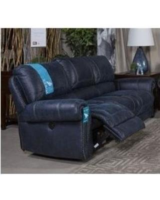 blue reclining sofa ashley milhaven faux leather reclining sofa, blue SRXYVRJ