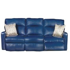 blue reclining sofa blue leather reclining sofa ZEVCWCY