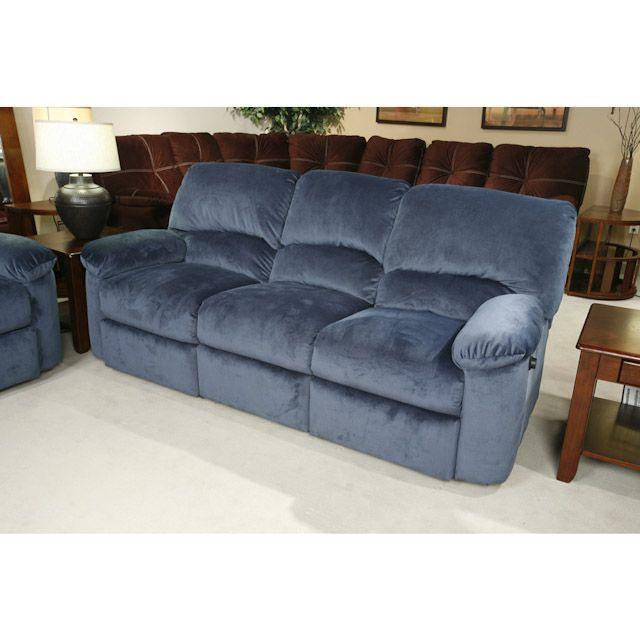 blue reclining sofa IXGYOVA