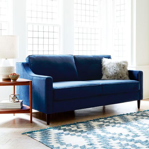 blue sofa paidge sofa (72.5 WKORCIR