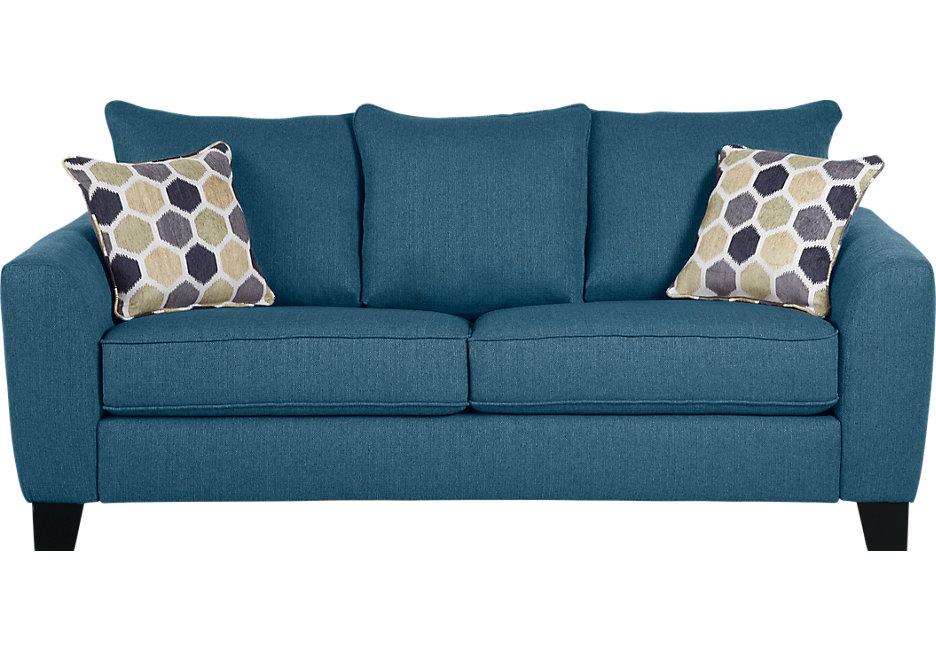 bonita springs blue sofa YWPNQYD