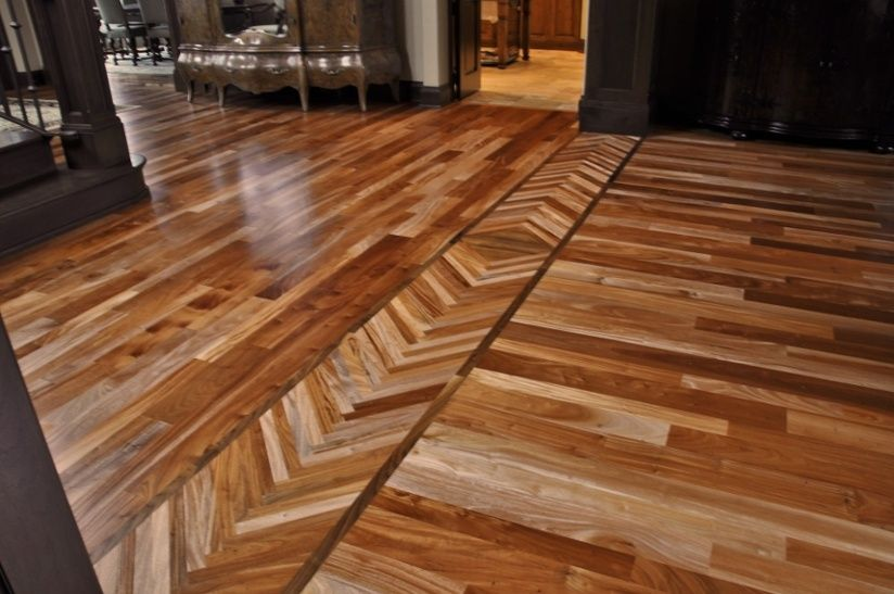 borders between rooms can blend old and new hardwood floors together. TOQZFRE