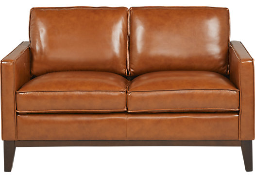 Brown leather loveseat $779.99 - greenwich sienna brown leather loveseat - classic - contemporary, AIKLAGI