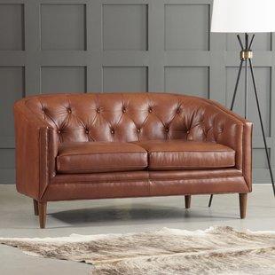 Brown leather loveseat bedford leather loveseat CKGTVFW