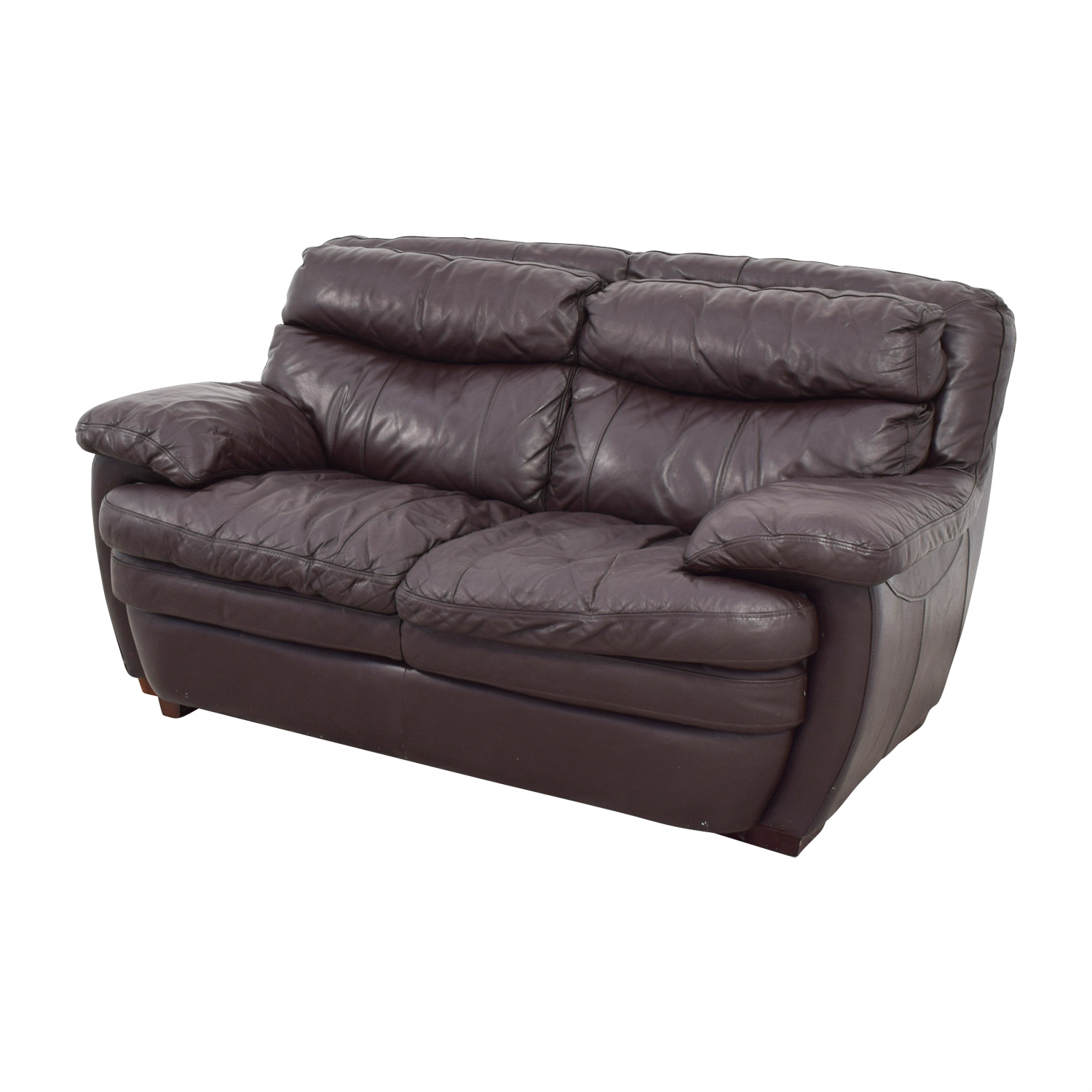 Brown leather loveseat ... bobs furniture bobs furniture brown leather loveseat for sale ... BGXPILM