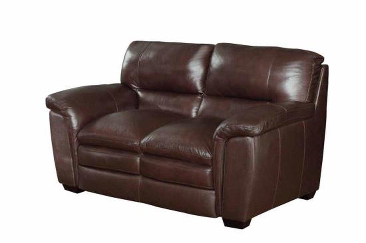 Brown leather loveseat burton brown leather loveseat LAMZCHH