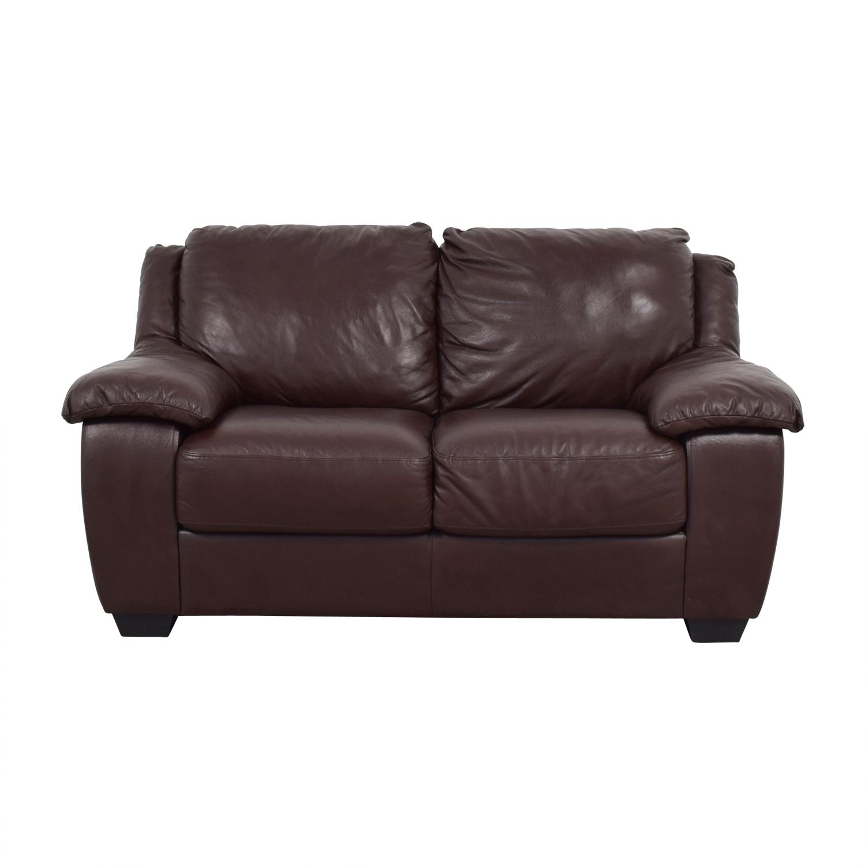 Brown leather loveseat macys brown leather loveseat sale ... VPHQGRF