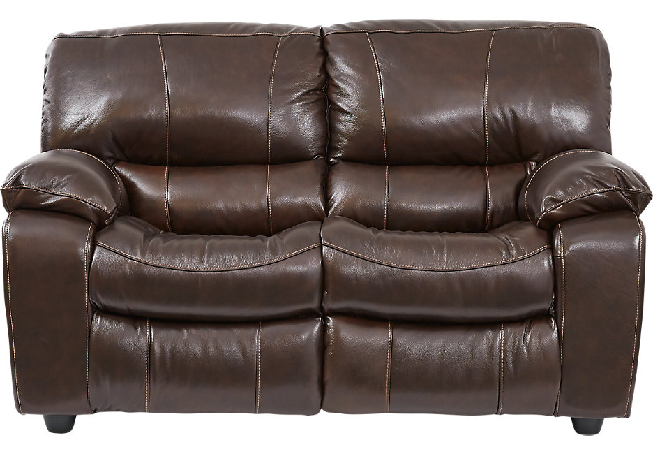 Brown leather loveseat sanderson walnut leather loveseat MAGIFQO
