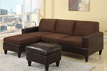 brown sectional sofa chocolate brown microfiber small sectional sofa with reversible chaise,  ottoman NRYOBNX