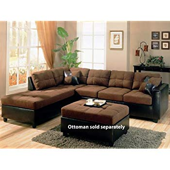 brown sectional sofa coaster mallory casual sectional sofa, chocolate XQTDPTG