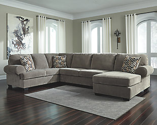 brown sectional sofa ... large jinllingsly 3-piece sectional, gray, rollover PJIGOGD