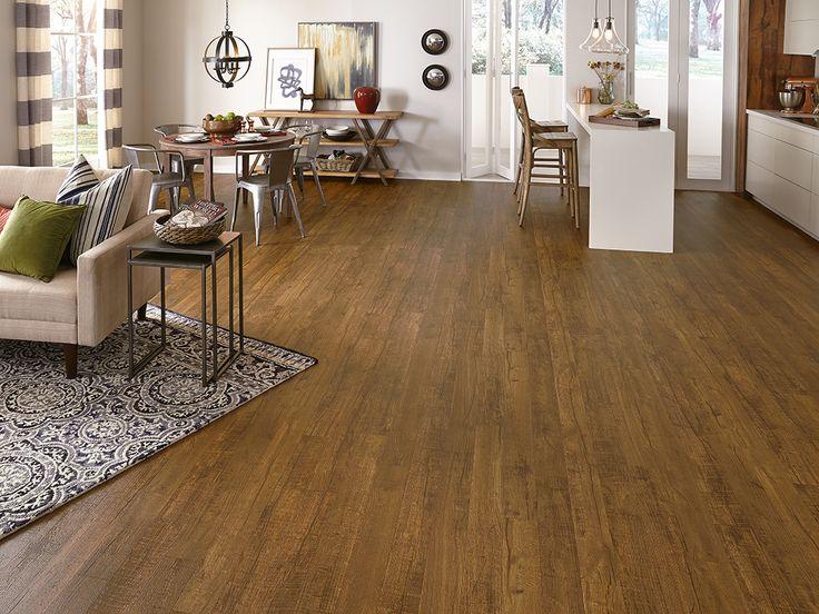 budget friendly flooring update | honey oak vinyl flooring | wood plank | BRKLZNV