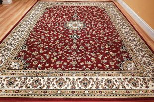 Carpet rugs amazon.com: large 5x8 red cream beige black isfahan area rug oriental carpet VJHWYWP