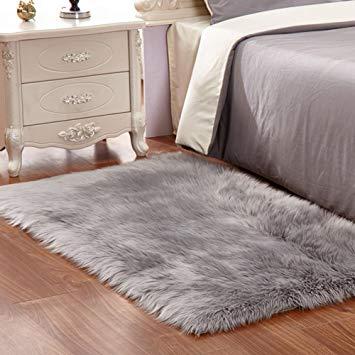 Carpet rugs amazon.com: wendana faux sheepskin area rug silky shag rug fluffy carpet  rugs DJNOFML