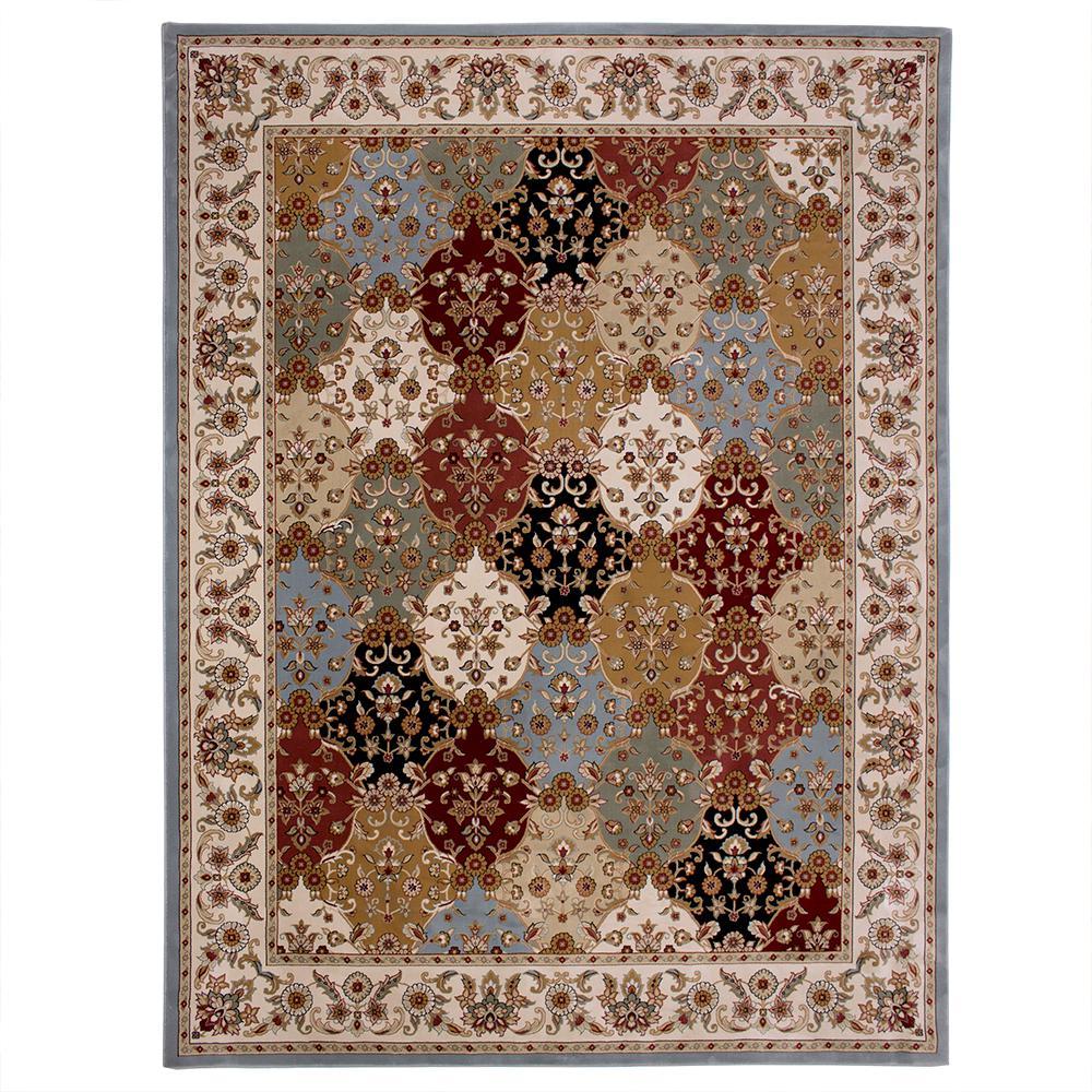 Carpet rugs carpet art deco eternity multi 8 ft. x 10 ft. area rug AFHBHBG