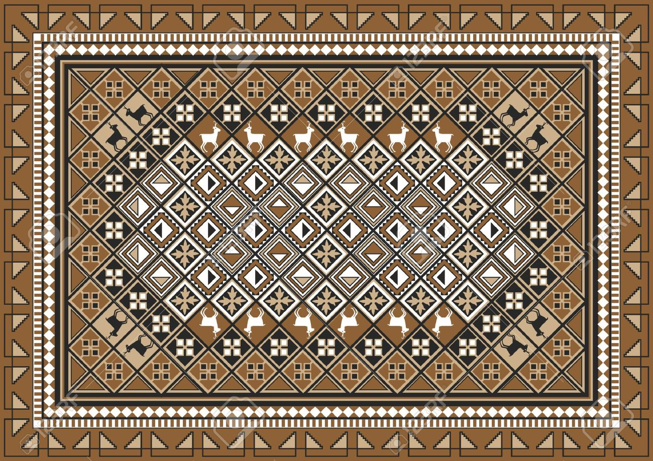 Carpet rugs carpet texture pattern. ethnic east rug pattern design stock vector -  10946066 XNZKLHV