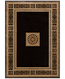 carpets and rugs km home sanford milan black area rug, created for macyu0027s LUGWVZZ