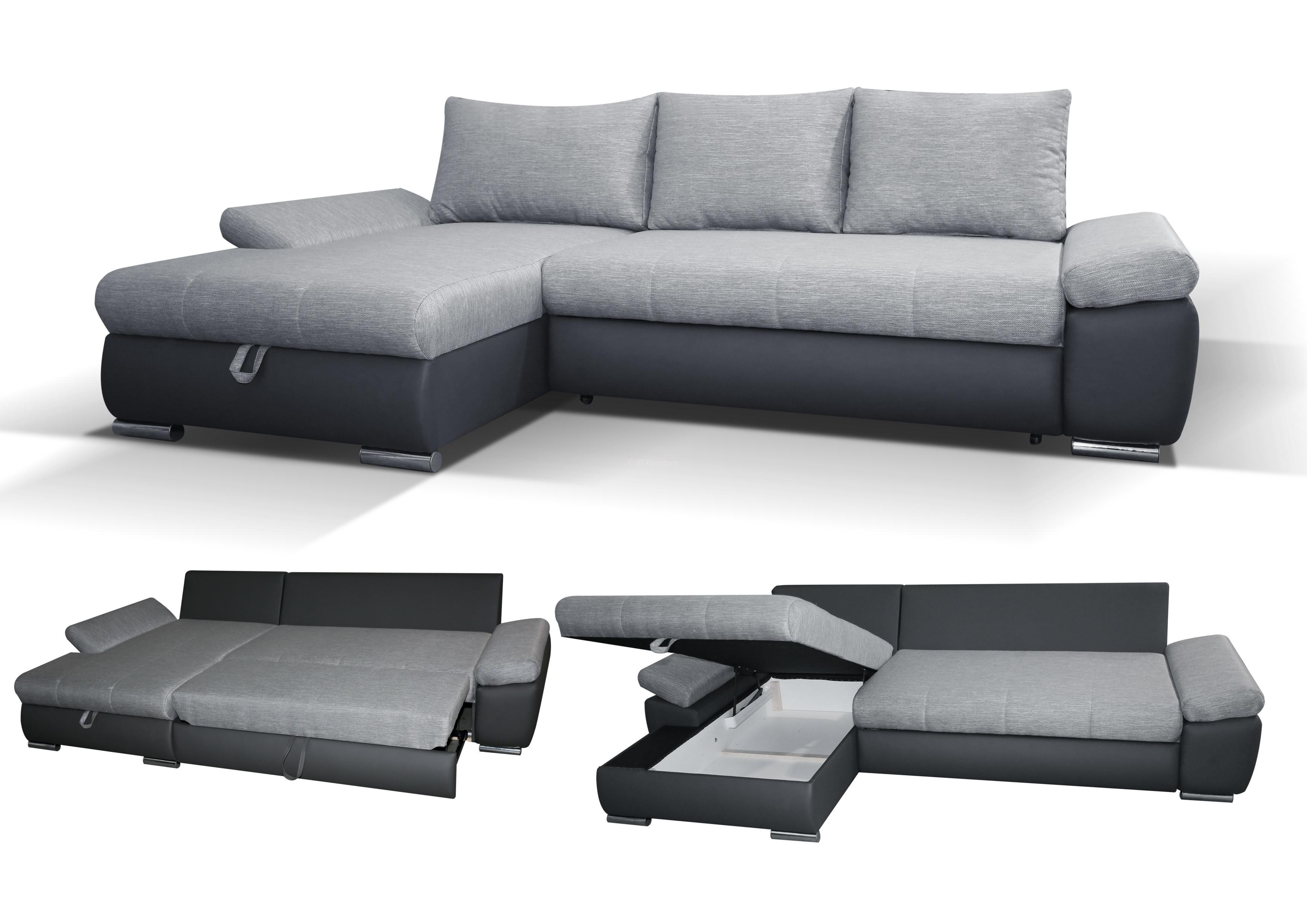caserto corner sofa bed - left handed PMKFBEQ