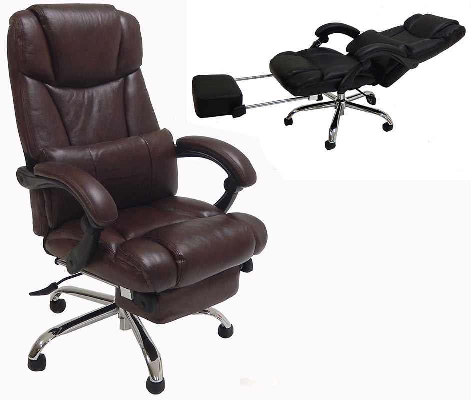 chairs for office leather reclining office chair w/ footrest JLWSRHC