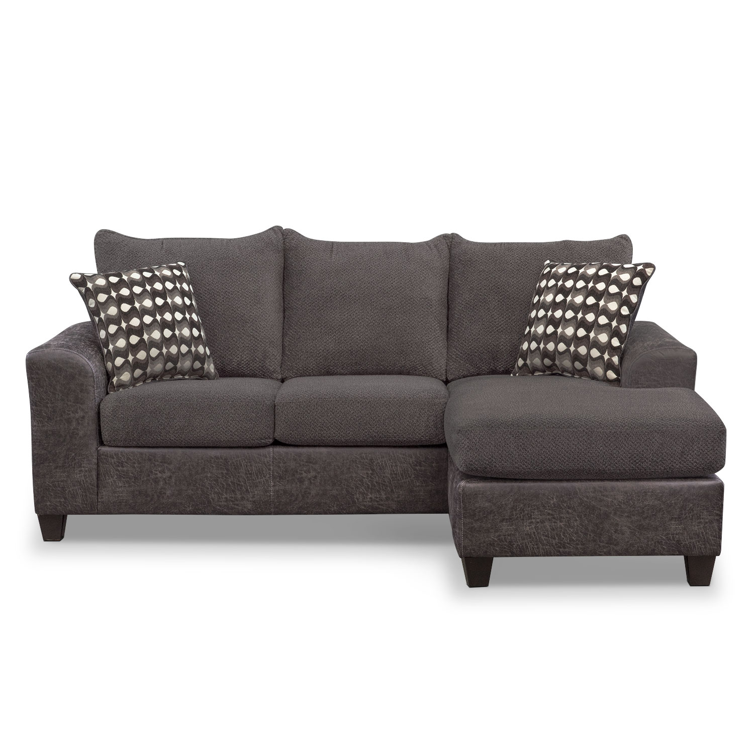 chaise couch brando sofa with chaise - smoke GRUBXYJ