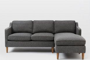 chaise couch hamilton 2-piece chaise sectional | west elm USBRXPP