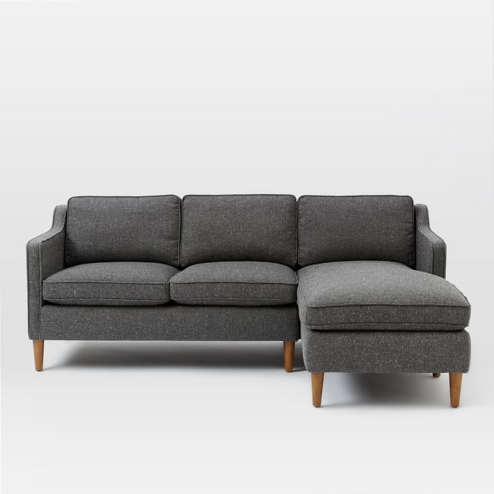 chaise couch hamilton 2-piece chaise sectional | west elm USBRXPP