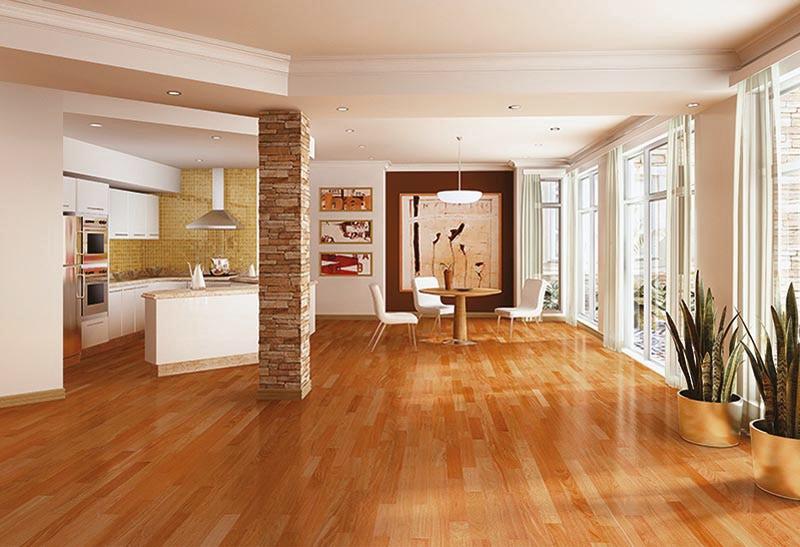 Cherry flooring vanier engineered hardwood - brazilian exotic collection brazilian cherry  natural / 5 FGBUBKK
