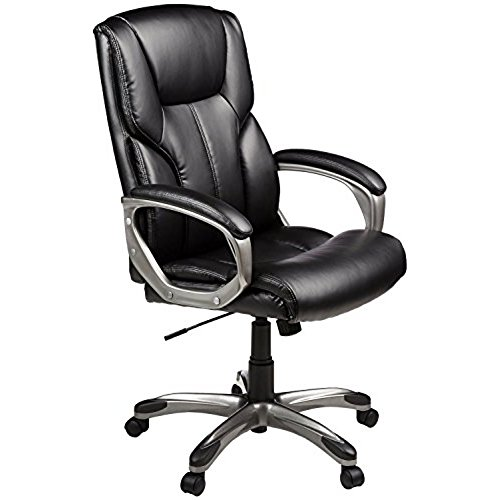 comfortable office chair amazonbasics high-back executive chair - black AHQMMBE