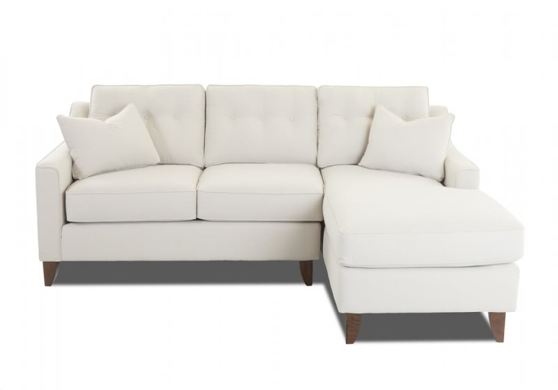 comfortable small sectional sofa with toss pillows ACLUBEW