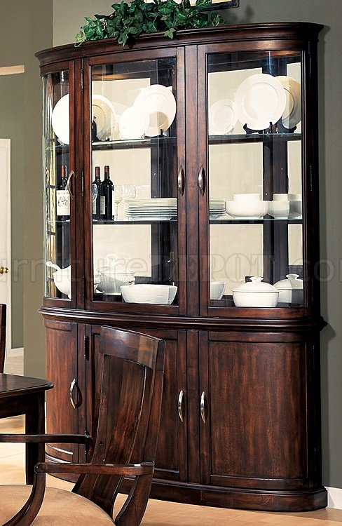 Contemporary hutch distressed cherry contemporary formal buffet w/optional hutch MBXVTTE