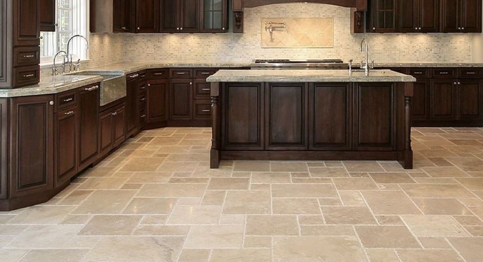 contemporary kitchen:pros and cons of kitchen flooring materials kitchen  flooring tiles kitchen ZRMGBUA