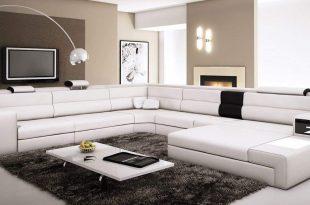 Contemporary sectional sofas amazon.com: polaris - white contemporary leather sectional sofa: kitchen u0026  dining AVNZPRH