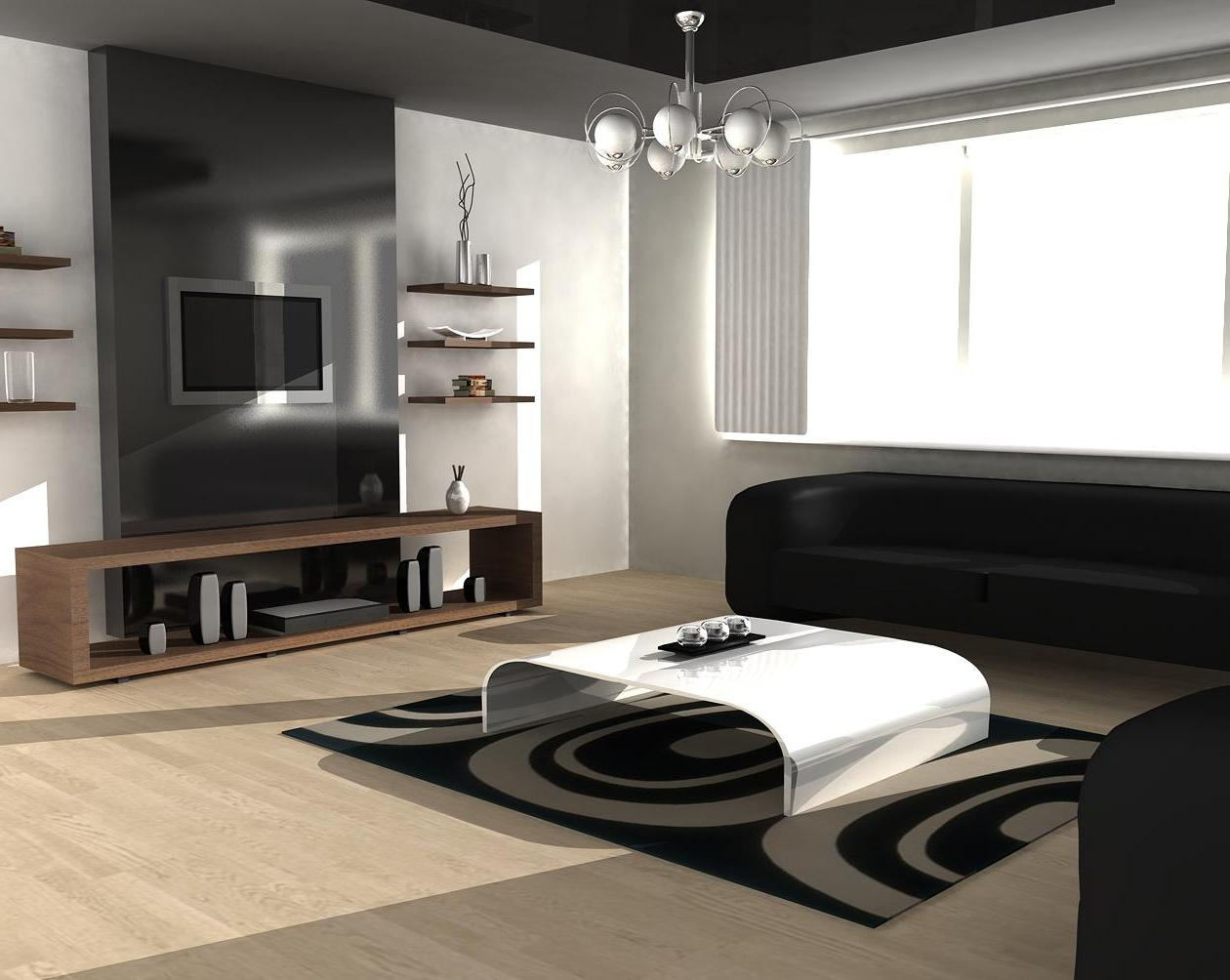 Contemporary Sofas for Home Interior ... finest contemporary lamp above white table and black sofa for  sophisticated IOOATOU
