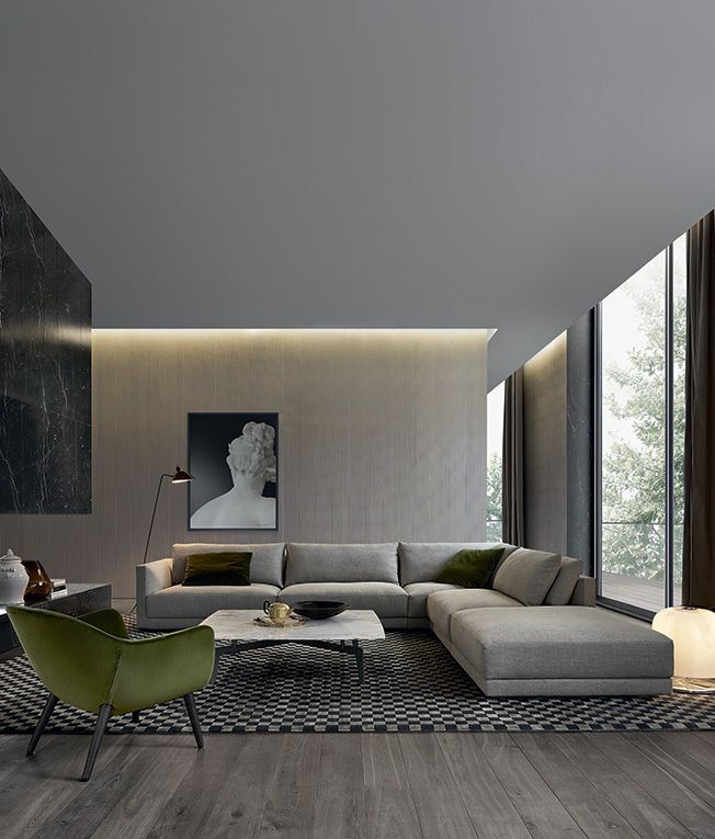 Contemporary Sofas for Home Interior the bristol sofa, designed by jean-marie massaud for poliform, features  broad, soft PWNSZQX