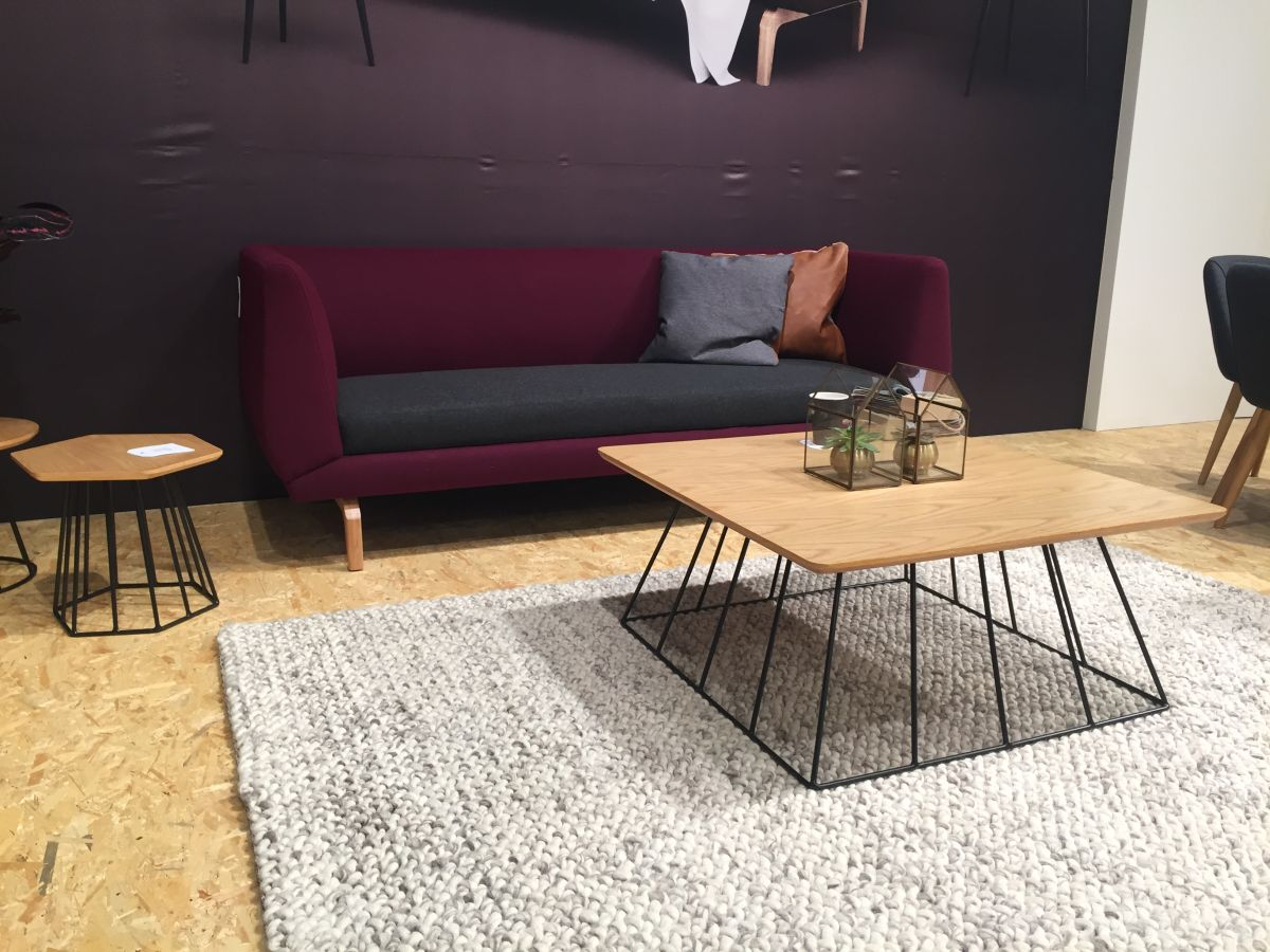 Contemporary Sofas for Home Interior wire base coffee table with purple sofa MYHQXNI