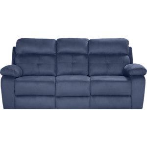corinne blue reclining sofa LZFLAJP