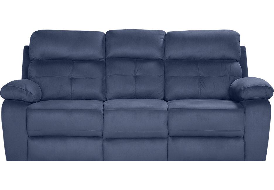 corinne blue reclining sofa - reclining sofas (blue) RCMHOSV